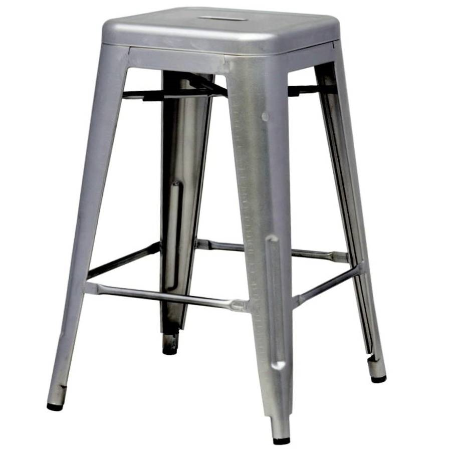 Amazing Indoor Outdoor Backless Stacking Counter Height Bar Stool In Gunmetal Steel Pabps2019 Chair Design Images Pabps2019Com