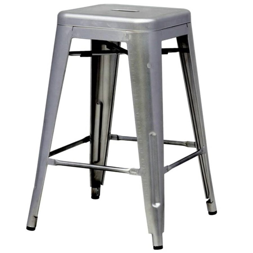 Indoor Outdoor Backless Stacking Counter Height Bar Stool