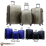3-Piece Hard-side Expandable Spinner Luggage Set