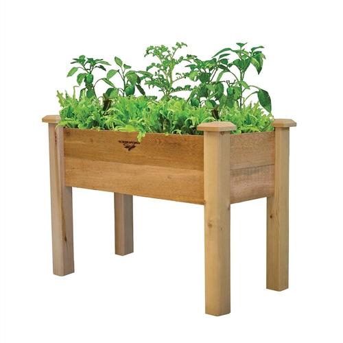 Natural Cedar Raised Garden Beds: Raised Garden Bed Planter Box In Solid Cedar Wood In