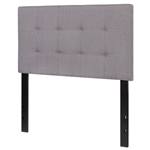 Twin size Modern Light Grey Fabric Upholstered Panel Headboard