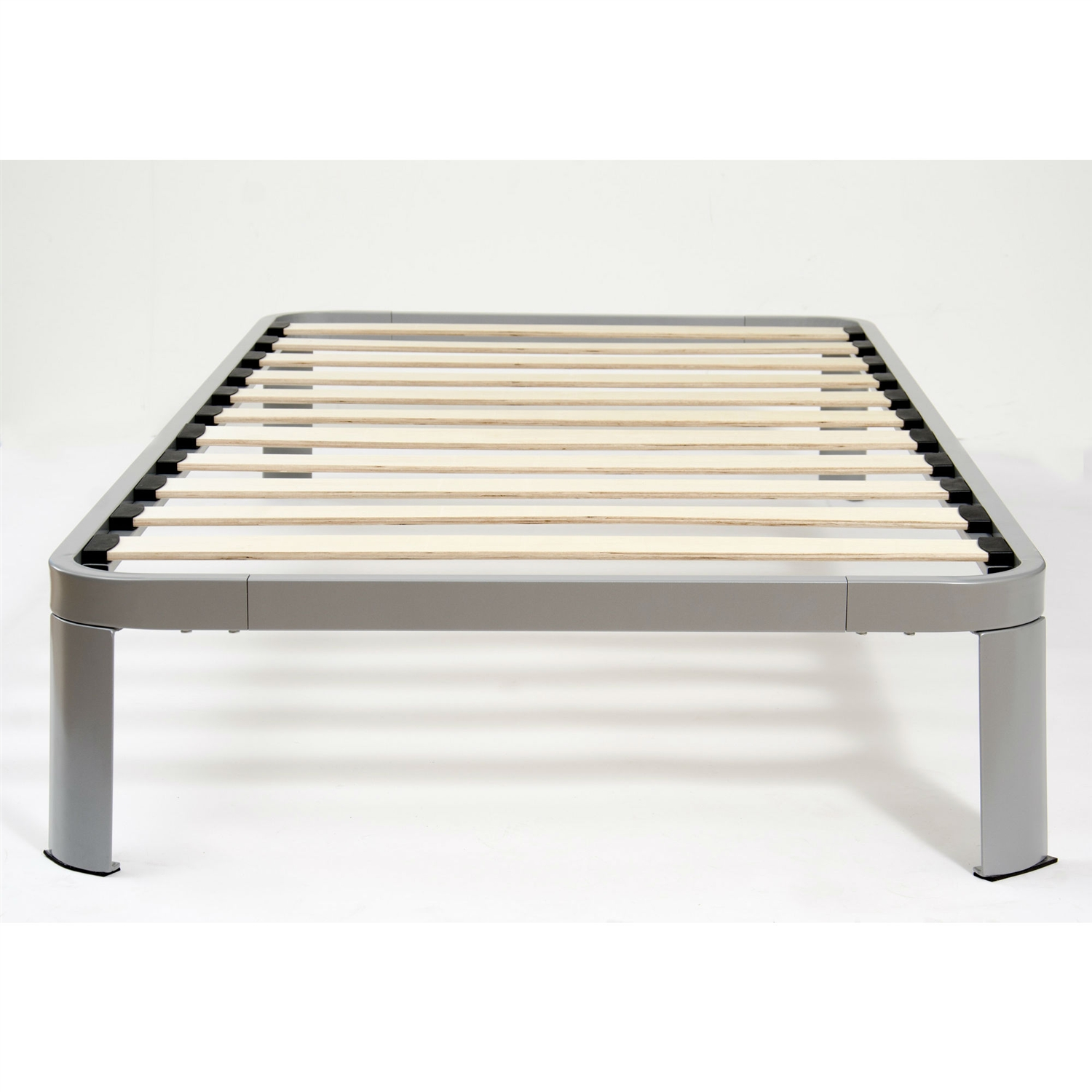Twin Size Luna Metal Platform Bed Frame With Wood Slats