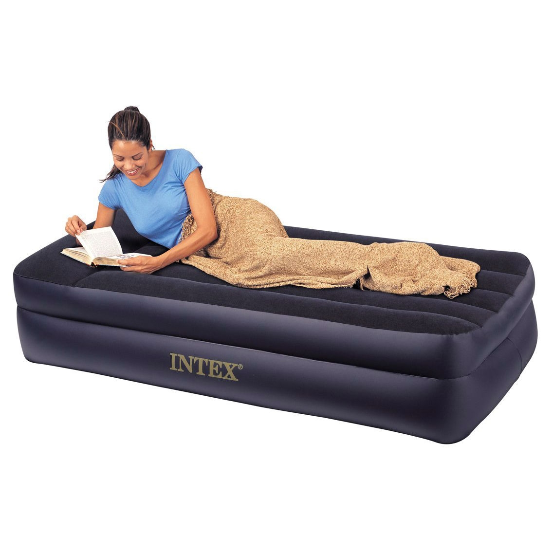 Twin Pillow Rest Raised Air Mattress With Built In Air Bed Pump