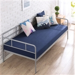 Twin size Modern Grey Metal Daybed Frame with Sturdy Steel Support Slats