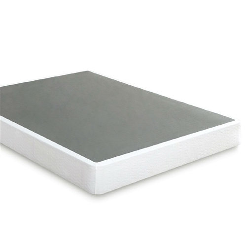 Twin size Steel Frame Box Spring Mattress Foundation with Zippered Cover