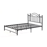 Twin size Black Metal Platform Bed Frame with Arched Headboard
