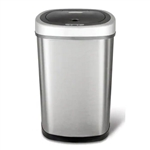 Stainless Steel Touchless Hands-Free Trash Can - 13.2 Gallon size