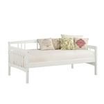 双重尺寸的传统松木日床架,白色表面处理