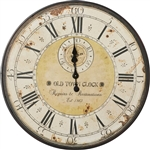 Vintage Oversized Distressed Metal Wall Clock