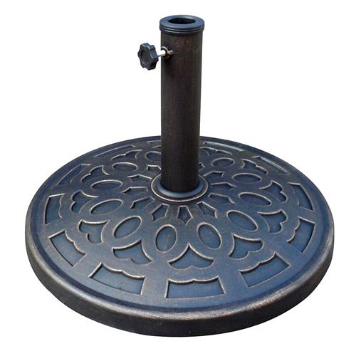 Outdoor Resin 30 lb Umbrella Base in Black Gold Finish