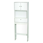 White 3 Drawer Bathroom Space Saver