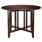 宣教风格圆形英寸双滴叶餐桌