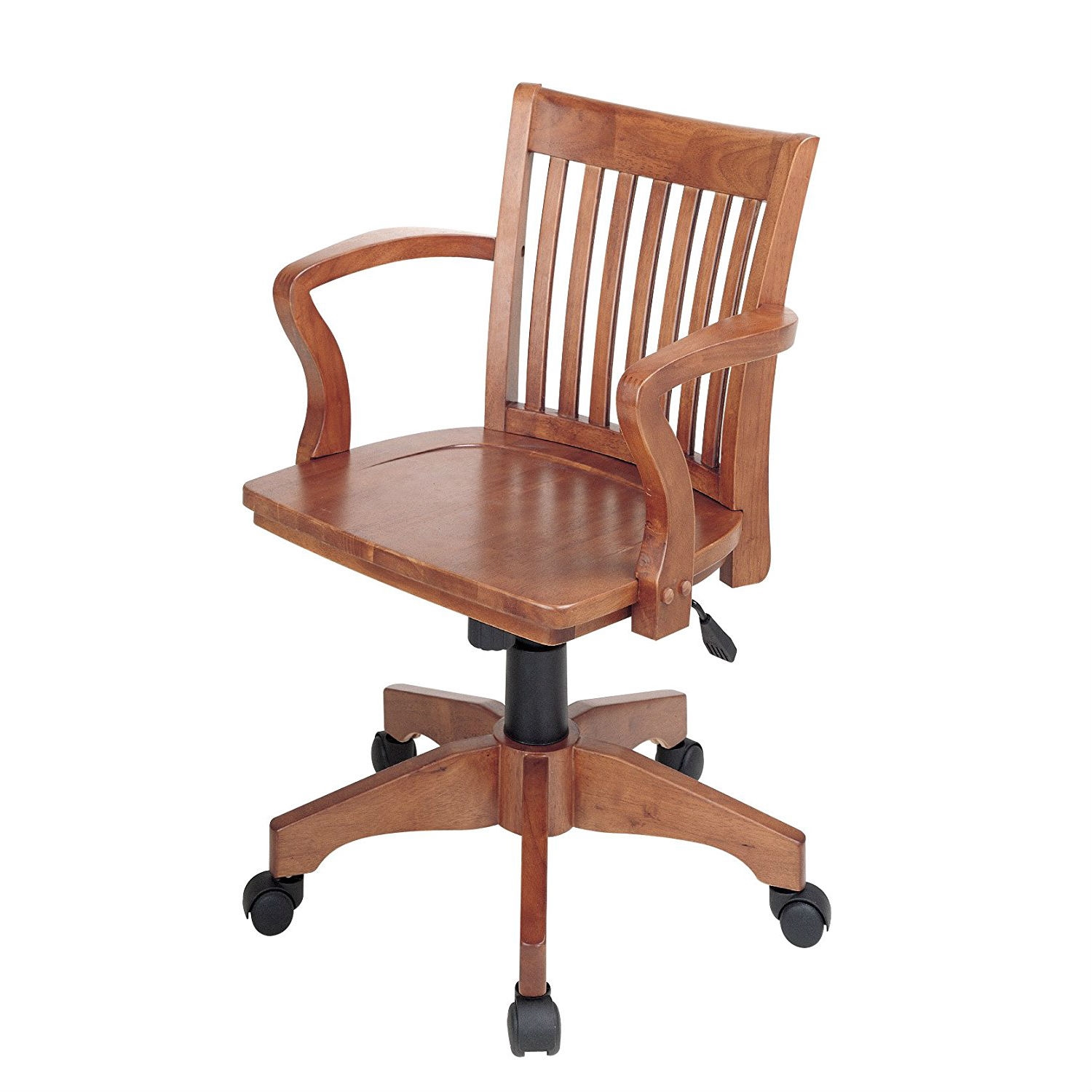 Exceptionnel Classic Wooden Bankers Chair With Wood Seat And Arms