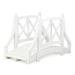 Durable White 4ft Canadian Hemlock Garden Bridge