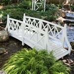 Durable White 8ft Canadian Hemlock Garden Bridge