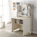 White Home Office Computer / Writing Desk with Hutch