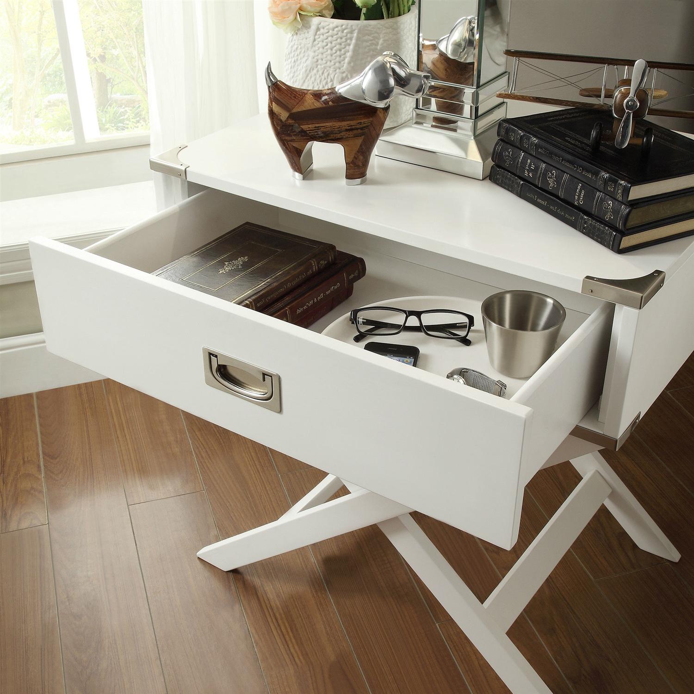 Modern Bedroom End Tables white modern bedroom decor 1-drawer bedside table nightstand end