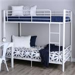 双人房,坚固耐用,金属制双层床,白色表面处理