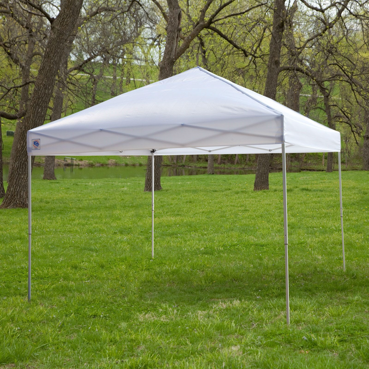 White 10 Ft X Outdoor Canopy Tent Gazebo With Steel Frame And Carry Bag Fastfurnishings
