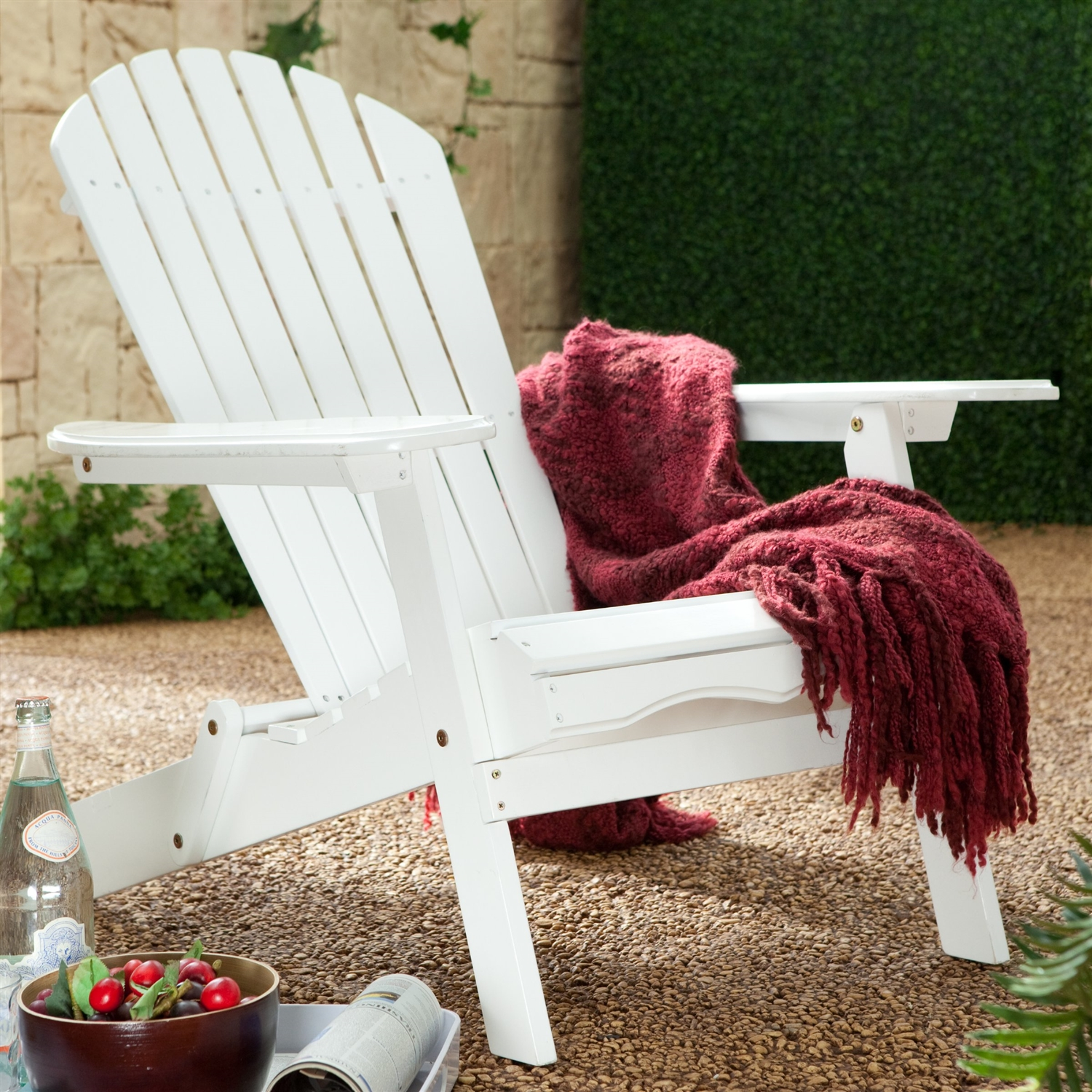 Cool Folding Adirondack Chair In White Wood Finish Squirreltailoven Fun Painted Chair Ideas Images Squirreltailovenorg