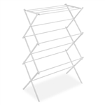 White Folding Laundry Dryer Clothes Drying Rack - Sturdy Steel Design
