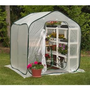 Spring Gardener Flower-House Lightweight Greenhouse (6' x 6')