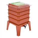 Terra Cotta Composter Worm Compost Bin Made from Food Grade Plastic