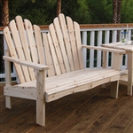 Seat阿迪朗达克风格的户外雪松木花园长凳