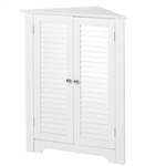 White Corner 2 Door Space Saving Bathroom Storage Cabinet