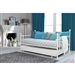 Twin size White Metal DayBed with Roll-out Trundle Bed