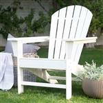 白色树脂户外耐候露台露台花园阿迪朗达克椅子