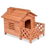 小型户外天然冷杉木狗屋
