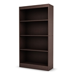 4 Shelf Bookcase in Dark Chocolate Finish
