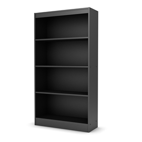 Four Shelf Eco-Friendly Bookcase in Black Finish