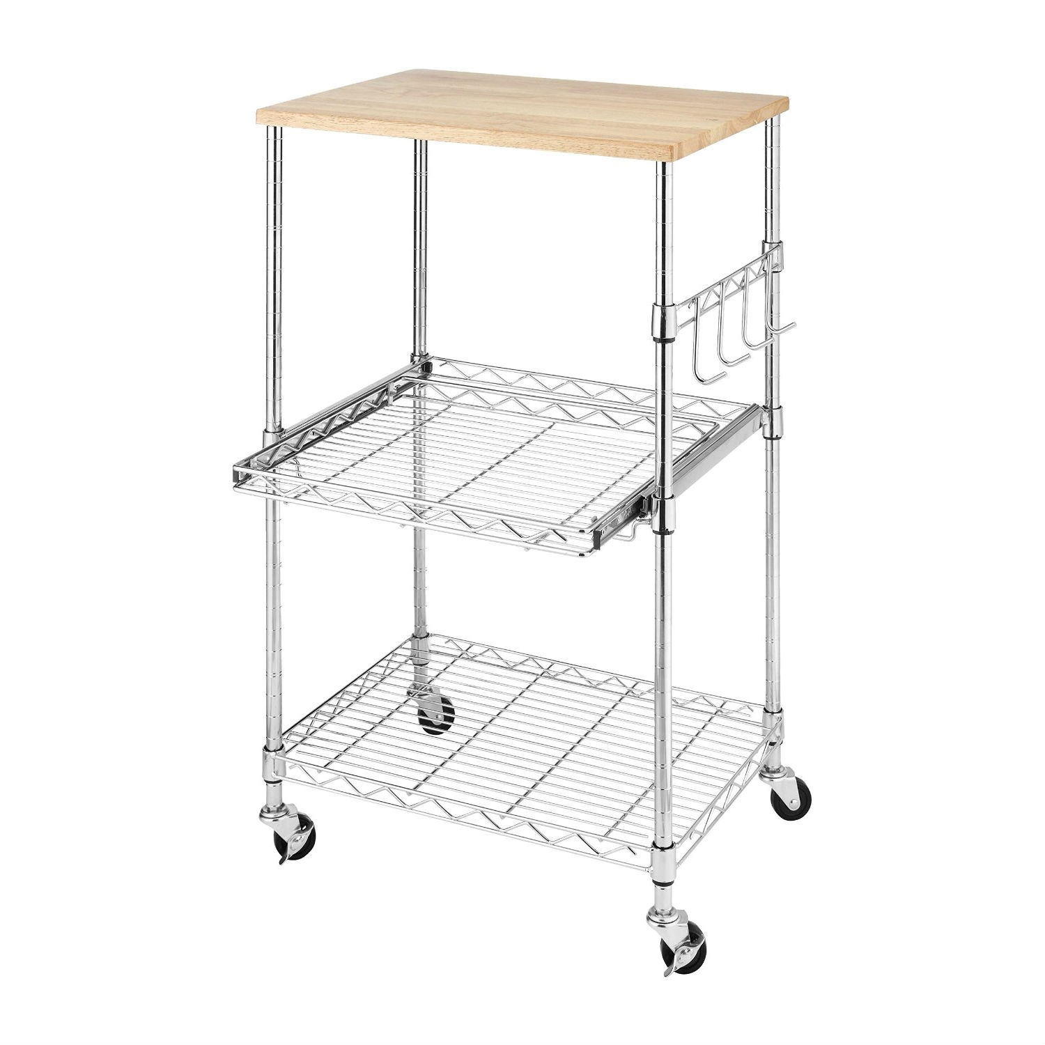 kitchen work portable table wire metal drawers outdoor with cabinet small rolling trolley island wood cart