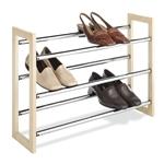 木铬金属层可堆叠式可扩展鞋架