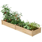 2 ft x 8 ft Chemical Free Made in USA Cedar Raised Garden Bed