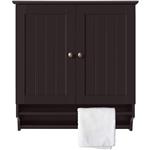 咖啡门浴室壁柜橱柜带毛巾杆