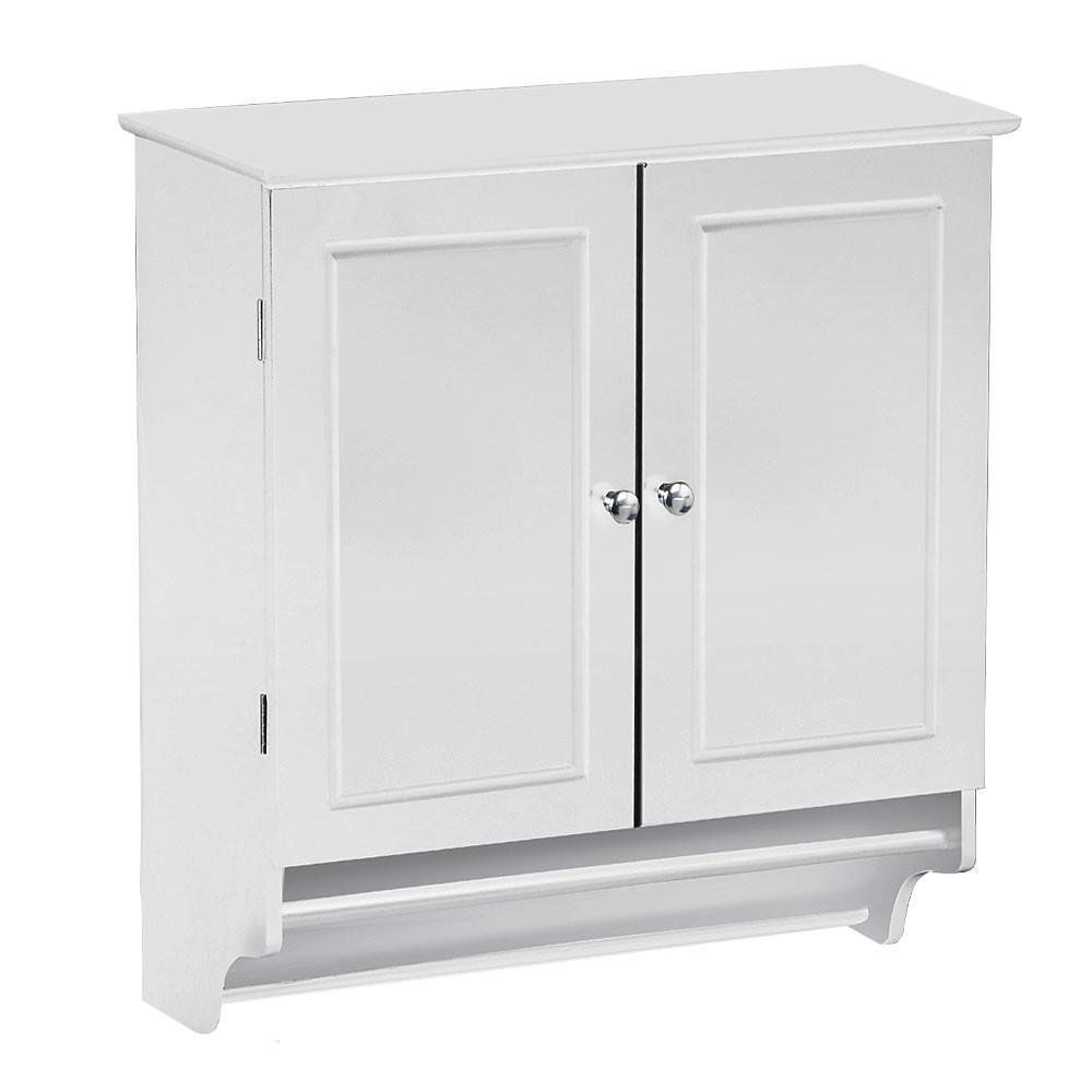 White Bathroom Wall Cabinet With