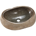 Granite Stone Sink with Polished Interior and 1.5 inch Drain Hole
