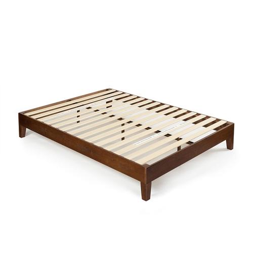full size low profile solid wood platform bed frame in espresso finish. Black Bedroom Furniture Sets. Home Design Ideas