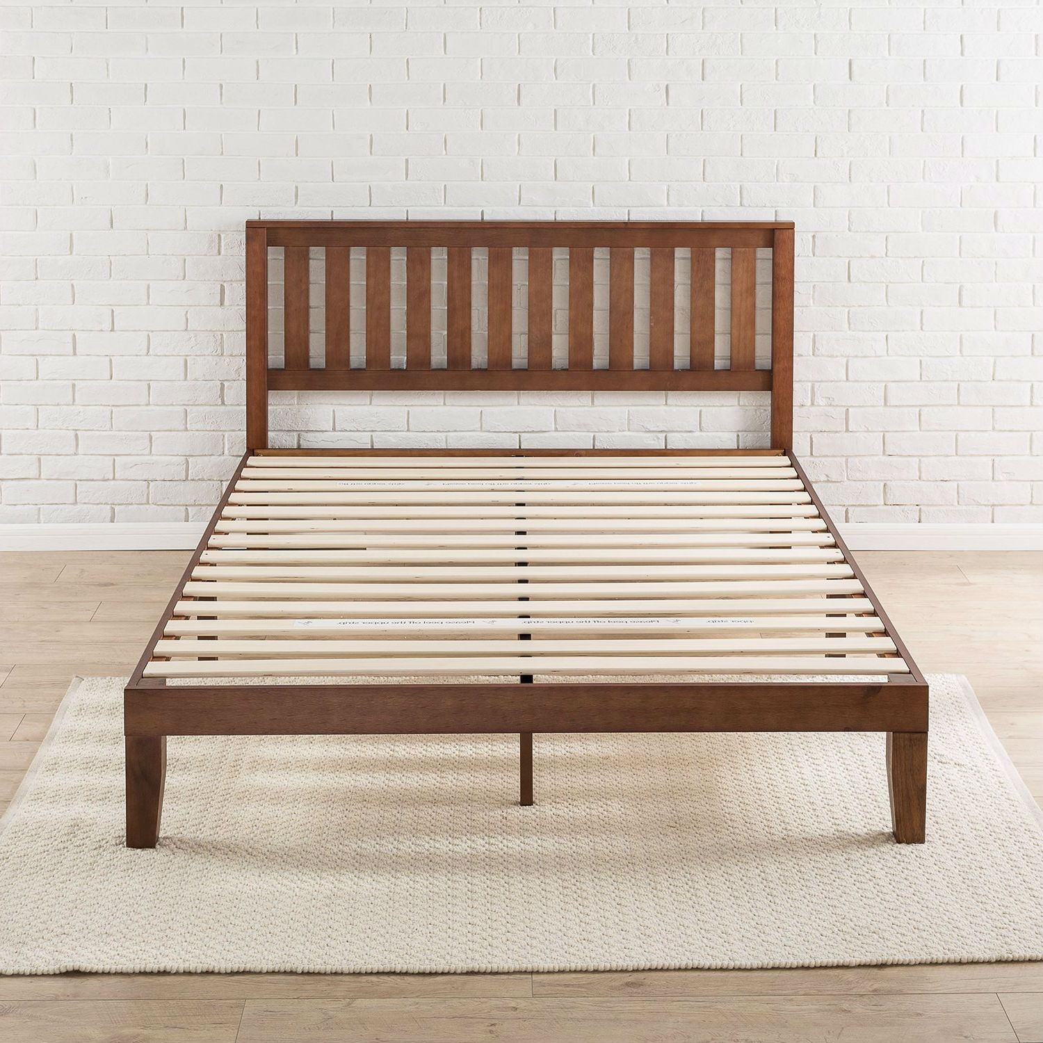 Queen size Mission Style Solid Wood Platform Bed Frame with ...