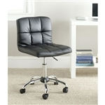 现代黑色人造皮革坐垫家用办公椅