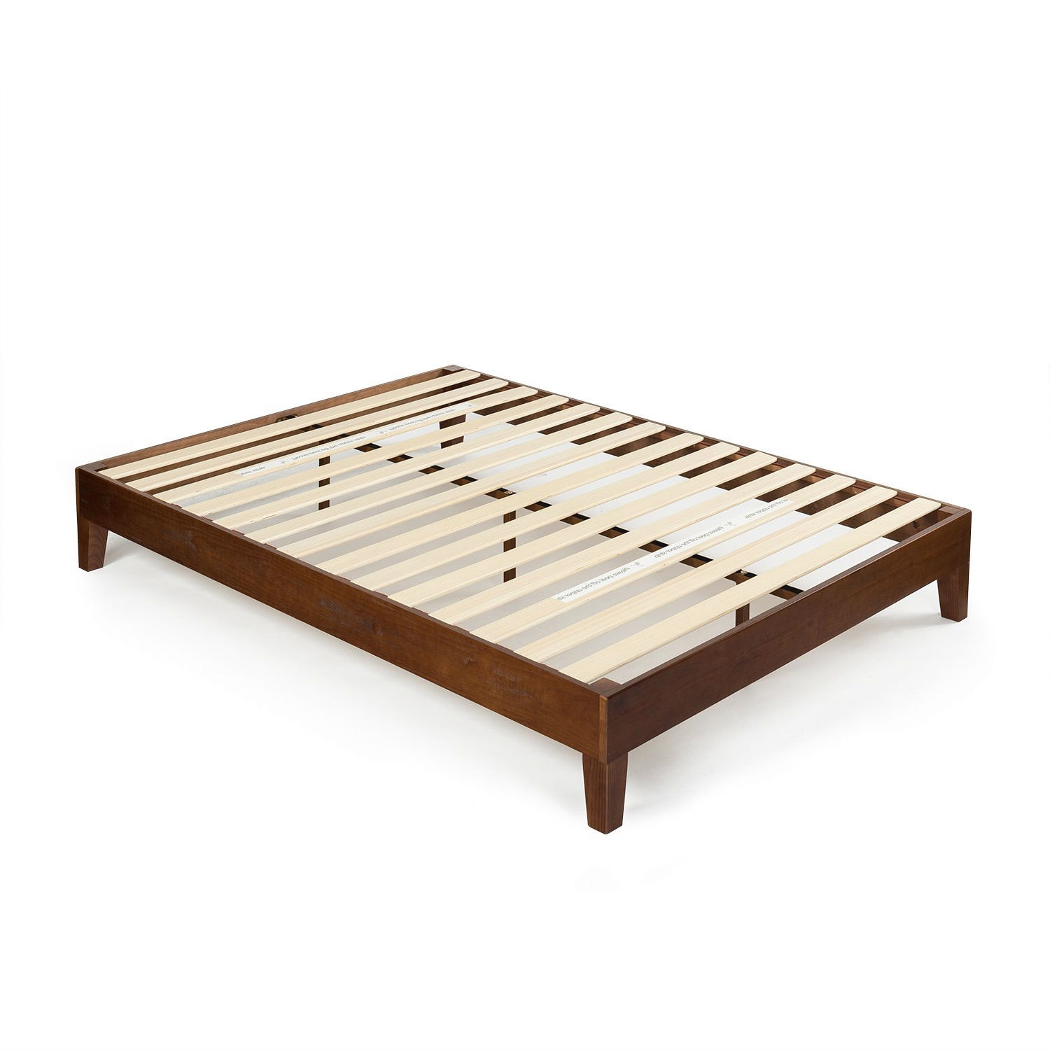 Queen size Modern Low Profile Solid Wood Platform Bed Frame in ...