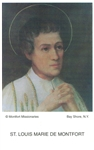 St. Louis De Montfort Prayer Card  (100)