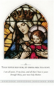 Mary, Queen of all hearts (Holy Card)