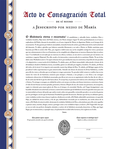 Consecration Certificate - SPANISH