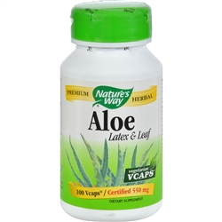 Nature's Way Aloe Vera Latex and Leaf - 100 Vegetarian Capsules