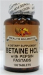 Betaine HCL with Pepsin Fastabs