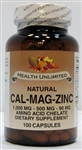 Natural Cal-Mag-Zinc  1,000mg/ 500mg/ 90mg Amino Acid Chelate
